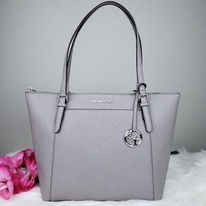 🌺NWT Michael Kors LG EW Ciara TZ Tote Pearl Grey